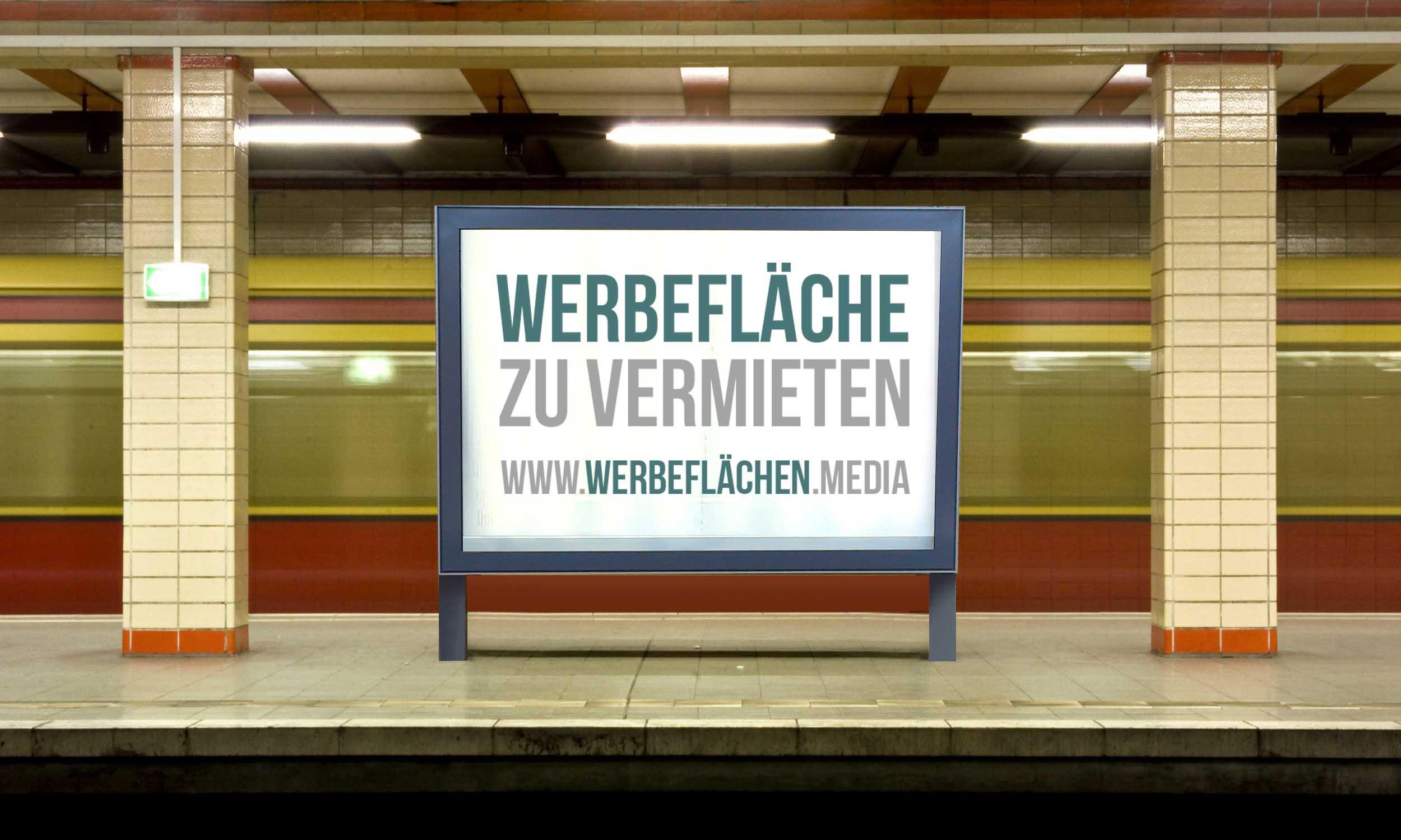 Bahnhofswerbung